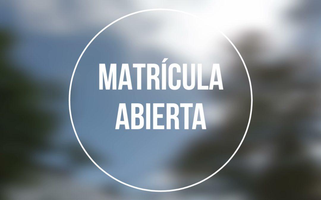 Matrícula abierta – Curso 2020/2021