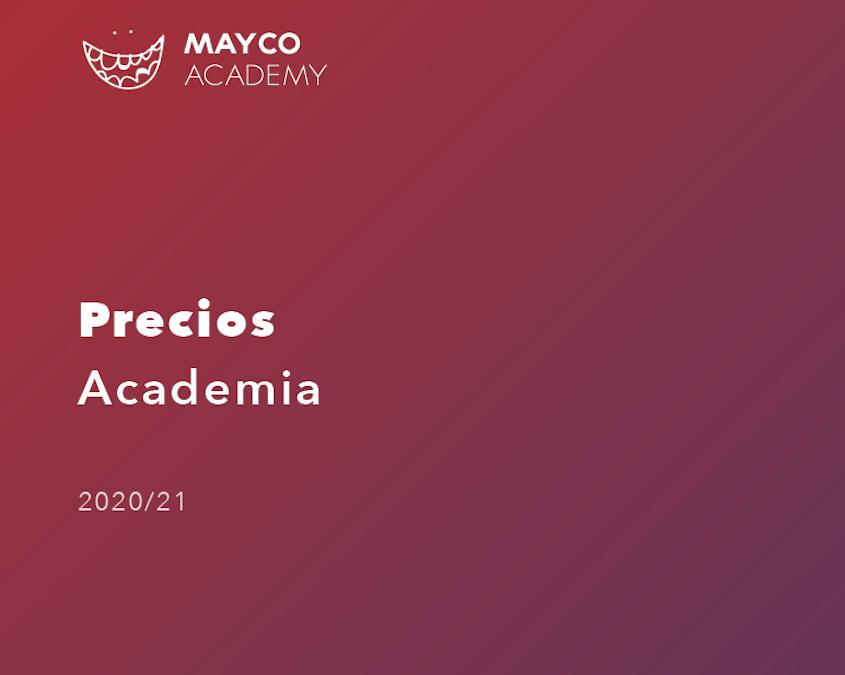 Precios Academia 2020
